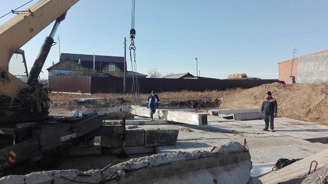 Строительство церкви на Медвежьем озере