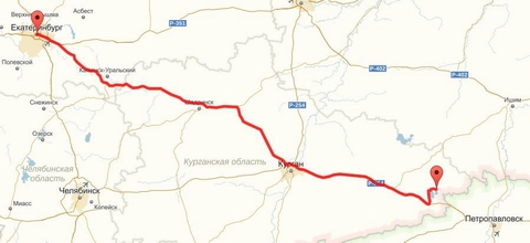 Как добраться до озера Медвежье (Курганская область) из Екатеринбурга на машине - расчет расстояния - medved45.ru