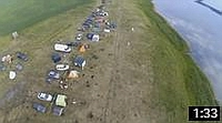 Видео о Медвежьем озере 101: Пролёт над базой отдыха «Медвежий остров» (кемпинг с высоты птиьчего полёта) - medved45.ru